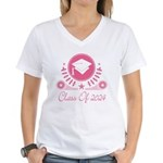 Class of 2024 Women's V-Neck T-Shirt