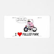 I Heart Pulled Pork Aluminum License Plate