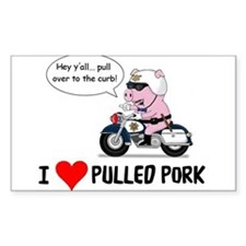I Heart Pulled Pork Decal