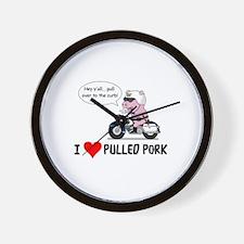 I Heart Pulled Pork Wall Clock