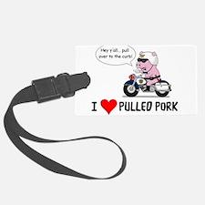 I Heart Pulled Pork Luggage Tag