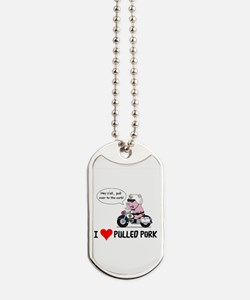 I Heart Pulled Pork Dog Tags