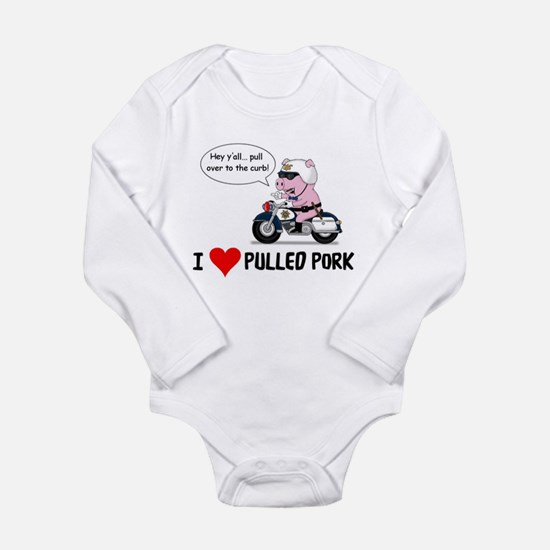 I Heart Pulled Pork Body Suit