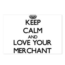 Keep Calm and Love your Merchant Postcards (Packag