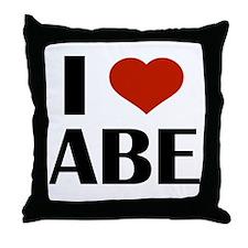 I Heart Abe Throw Pillow