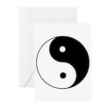 Yin Yang I-Ching Tao Greeting Cards (Pk of 10)