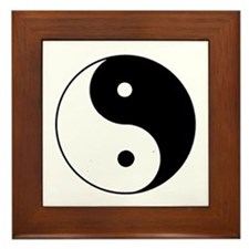 Yin Yang I-Ching Tao Framed Tile