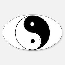 Yin Yang I-Ching Tao Oval Decal