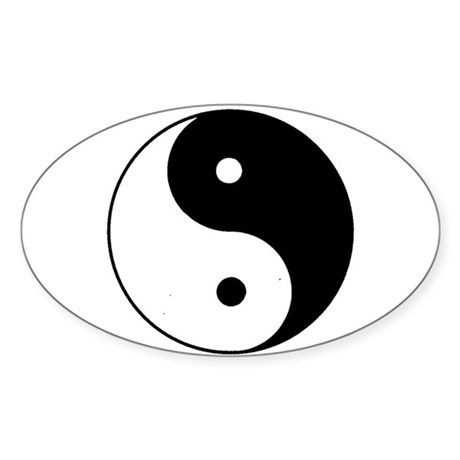 Yin Yang I-Ching Tao Oval Sticker