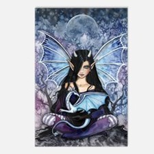 Sapphire Dragon Fairy Gothic Fantasy Art Postcards