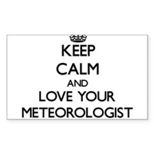 Keep Calm and Love your Meteorologist Decal