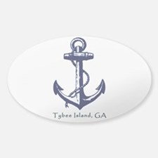 Tybee Island Ship Anchor Decal