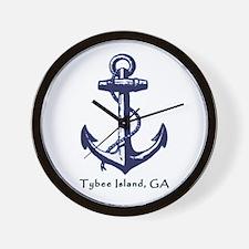 Tybee Island Ship Anchor Wall Clock