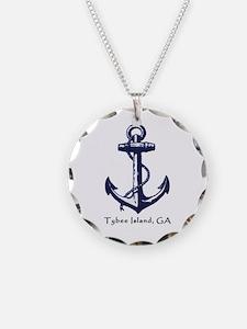 Tybee Island Ship Anchor Necklace