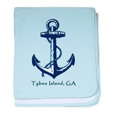 Tybee Island Ship Anchor baby blanket