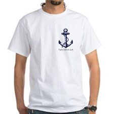 Tybee Island,ga Ship Anchor T-Shirt