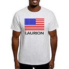 Laurion - America <BR>ash grey t-shirt