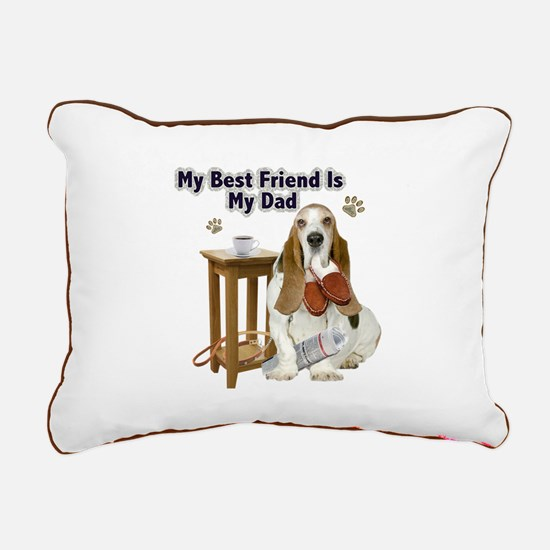 Basset Hound Best Friend Rectangular Canvas Pillow