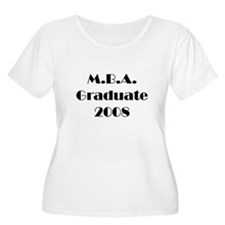 MBA Graduate 2008 Women Plus Size Scoop Neck Shirt