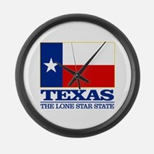 Texas State Flag Large Wall Clock