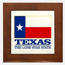 Texas State Flag Framed Tile