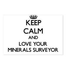 Keep Calm and Love your Minerals Surveyor Postcard