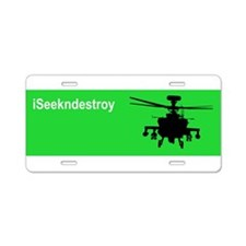 Cute Ah 64 apache Aluminum License Plate