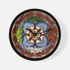 Harvest Moons 4 Seasons Mandala Wall Clock