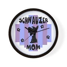 Schnauzer Mom Wall Clock