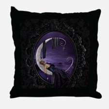 Sleeping Moon Throw Pillow