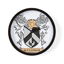 Alexander Coat of Arms Wall Clock