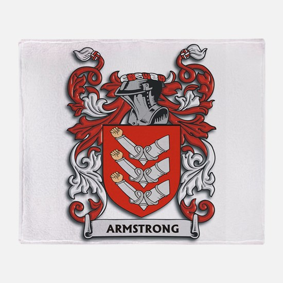 Armstrong Coat of Arms Throw Blanket