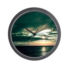 Ocean Twilight Time Wall Clock