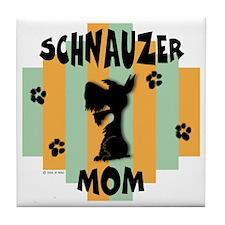 Schnauzer Mom Tile Coaster