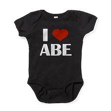 I Heart Abe Baby Bodysuit