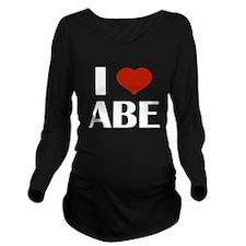 I Heart Abe Long Sleeve Maternity T-Shirt