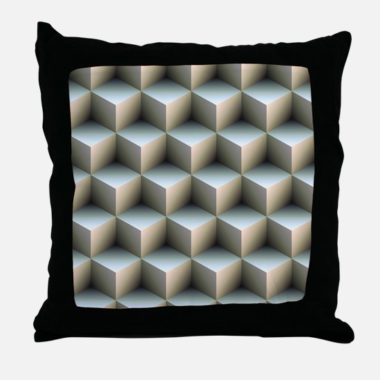 Ambient Cubes Throw Pillow