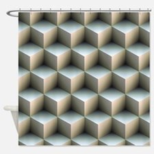 Ambient Cubes Shower Curtain