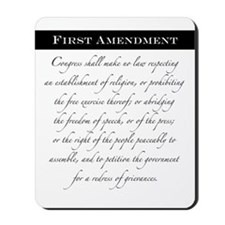 1st Amendment Mousepad