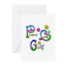 Peace Love Golf Greeting Cards (Pk of 20)