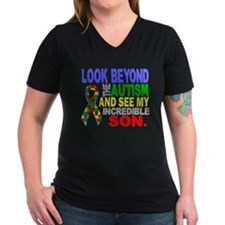 -Look Beyond Autism 2D Son T-Shirt