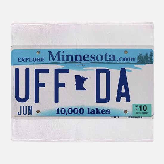 "Minnesota ""Uffda"" Throw Blanket"