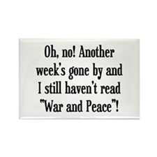 read war and peace Rectangle Magnet