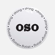Oso Ring Round Ornament