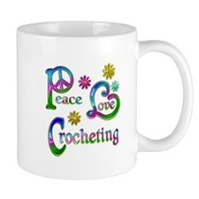 Peace Love Crocheting Small Mug