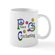 Peace Love Crocheting Small Small Mug