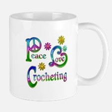 Peace Love Crocheting Small Small Mug