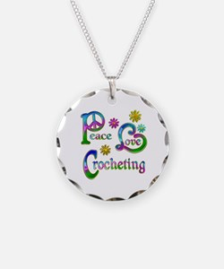 Peace Love Crocheting Necklace
