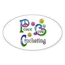 Peace Love Crocheting Decal