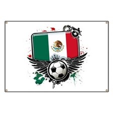 Soccer fans Mexico Banner